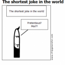 The shortest joke in the world