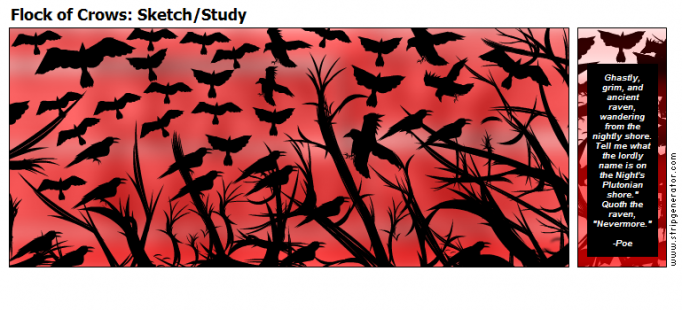 Flock of Crows: Sketch/Study