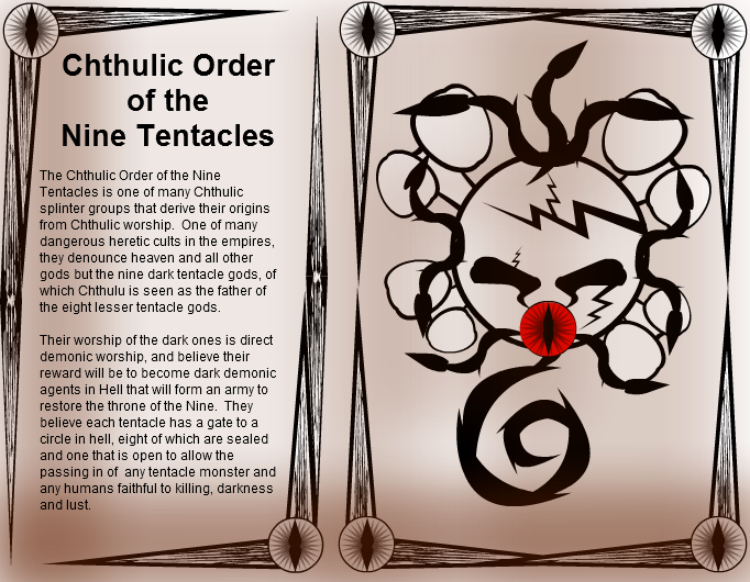 Book of Heretic Cults: Chthulic Order of Nine