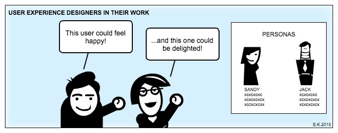 UX comic: Designing user experience