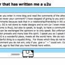 Answer to a blogger that has written me a u2u