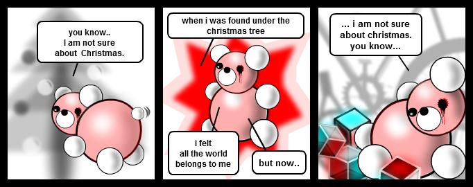 Teddy bear and Christmas