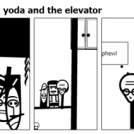 star wars 3: part four: yoda and the elevator