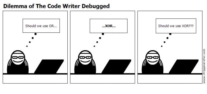 Dilemma of The Code Writer Debugged