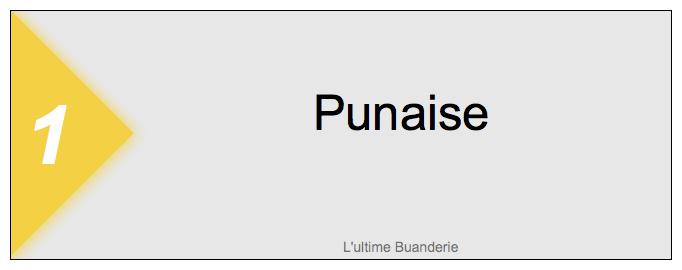 1 === Punaise