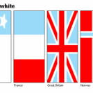 FLAGS - red+blue+white