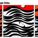 Ligne, noir orange rouge bleu