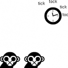 -The Two Monkeys- Clock
