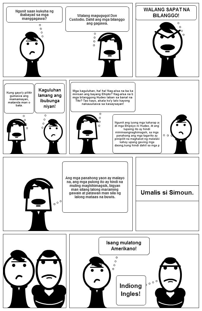 filibusterismo strips El comic