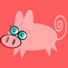 nerd pig