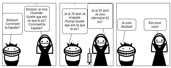 Dessin animé pour francais
