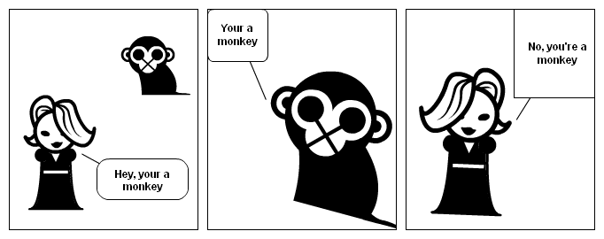Your a monkey