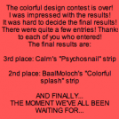 Colorful design contest results!