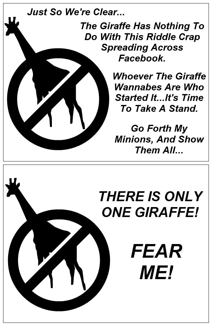 Anti Facebook Giraffe Card