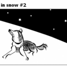 Dog in snow #2