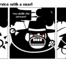 Bill the Klingon -Service with a snarl