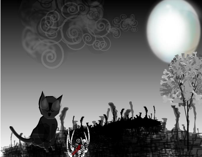 El gato y la carroña