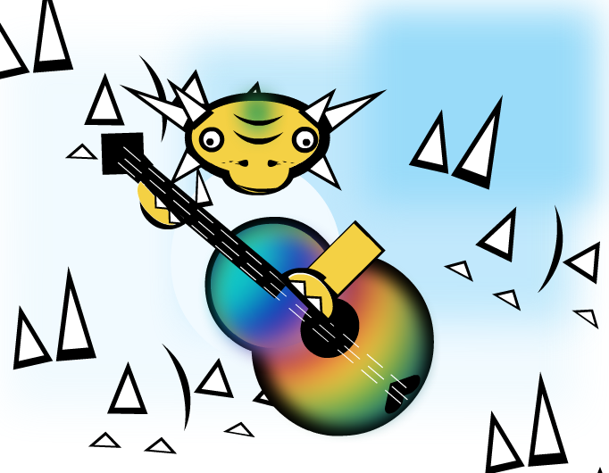 Rainbow guitar