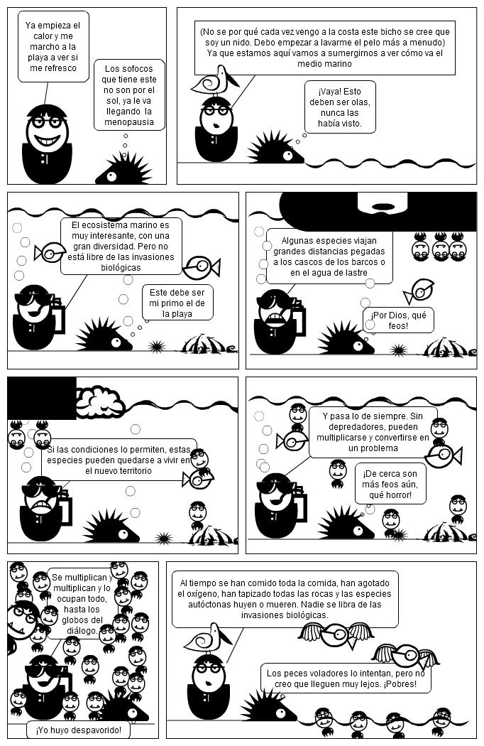 La invasión bajo el agua