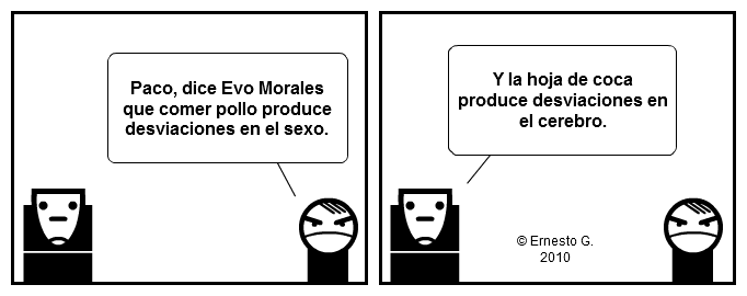 Paco y Poco sobre Evo Morales