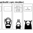 Death goes shopping(death's epic storyline)