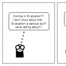 Comics in evaluation