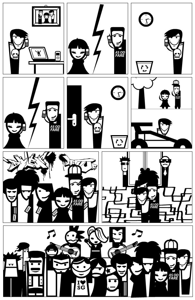 Music concert comic