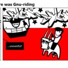 I'm pretty sure there was Gnu-riding