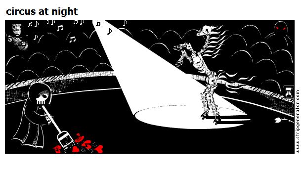 circus at night