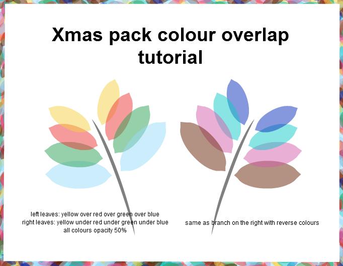 Xmas pack colour tutorial