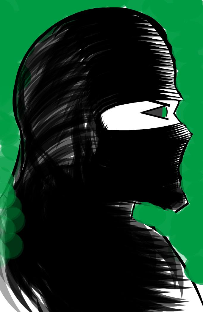 Green Eyed Ninja Sketch - Detective