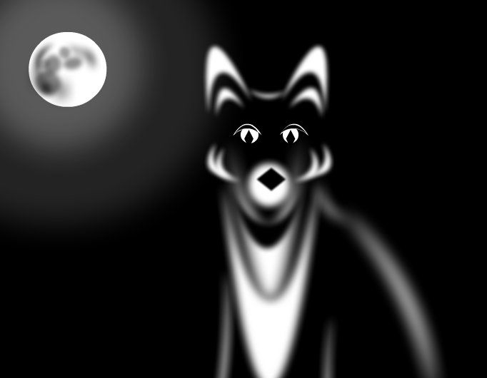 Fox in dark