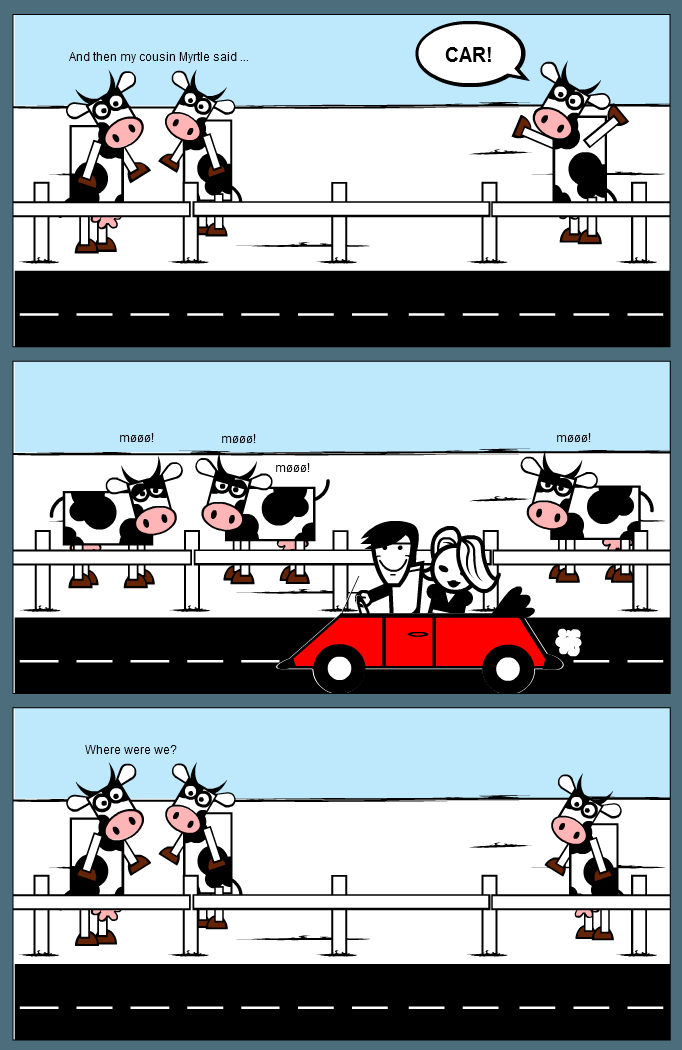 Cowmania continues ... (Cow and Co. 8)