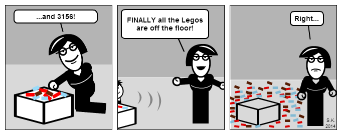 Kid cartoon: Lego hurricane