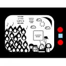 niño  quema escuela