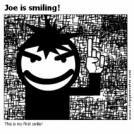 Joe is smiling!