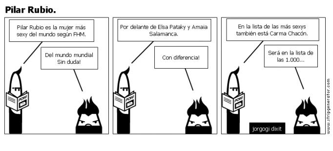 Pilar Rubio.