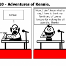 Elevator Comic # 110 - Adventures of Kennie.