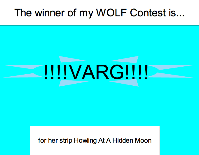 The Winner of WOLF Contest