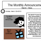The Monthly Announcement: March