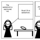 Jose Steals Sandwich