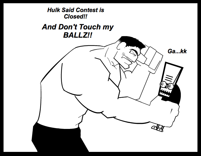 Hulk Rage Contest Closed