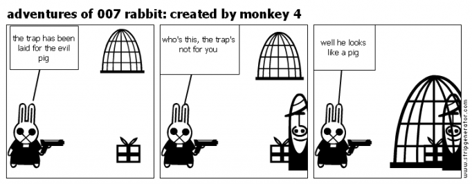 adventures of 007 rabbit: created by monkey 4