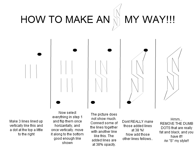 "How to make an ""S"" my way"