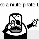 The talking like a mute pirate day