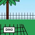 !Warning!Dino out of cage!
