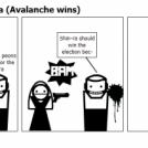 Avalanche vs Shinra (Avalanche wins)