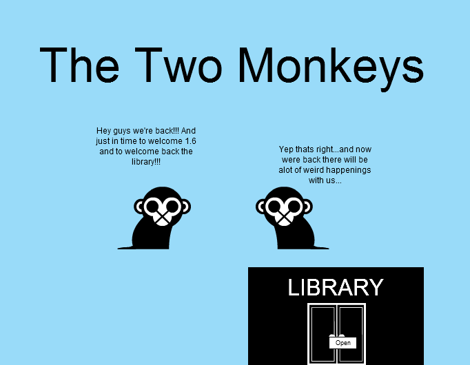-The Two Monkeys- Welcome