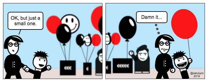 Kid cartoon: Balloons