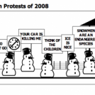 The SnowMan Protests of 2008